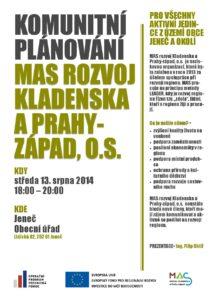 Pozvánka na komunitní plánování - Jeneč